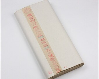 Free Shipping Chinese Calligraphy Material  50x100cm Colored Raw Unsized Xuan Paper Rice / Antique Color - 100 Sheets - 0015R