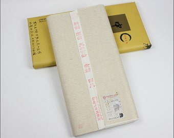 Free Shipping Chinese Calligraphy Material  69x138cm Semi-sized Xuan Paper Rice / White - 100 Sheets - 0015SS