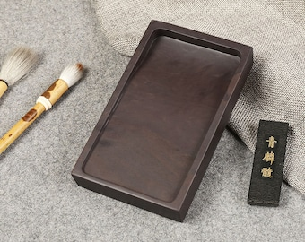 Free Shipping Chinese Calligraphy Material 6 inch 14.9x8.8x2.5cm Natural Stone Chinese Inkstone - 0099 Orientalartmaterial Supply