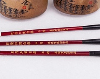 Free Shipping Chinese Calligraphy Material  3.2x0.8x26cm Goat Weasel Hair Combined Brush / JJBY (Large) 0022L