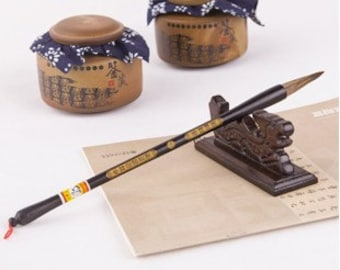 Free Shipping 4.6x1.1x28.6cm Ox Ear Hair Niu Er Hao Brush (Small) Oriental Calligraphy Painting - 0055S