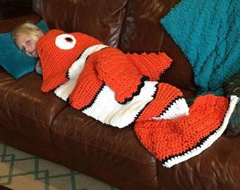 CROCHET PATTERN blanket, clownfish