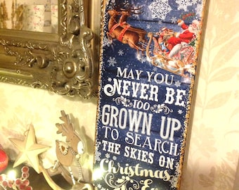 Christmas Sign, Christmas Ornament, Personalised Christmas Decoration, Rustic Christmas Decor, Christmas Quote