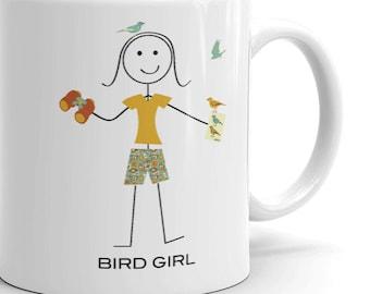 Funny Womens Birding Mug, Girls Birdwatching Gifts - Bird Watching Cup - Birding Coffee Mug - Birder Coffee Cup - Birding Gifts