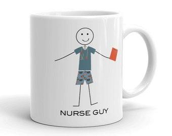 Funny Nurse Mug for Men, Nursing Gifts for Boys - Nurse Coffee Cup - Nurse Coffee Mug