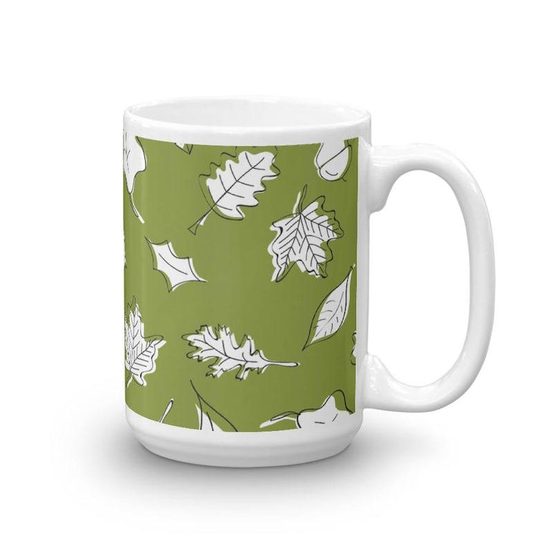 01bc44793d4 Herbstlaub Kaffeebecher 15 Unzen Blatt Kaffee Tasse Laub | Etsy