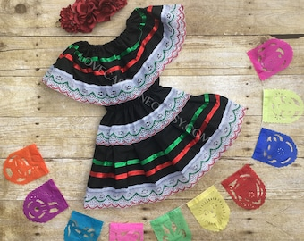 Baby Toddlers Mexican Dress (Mexican Flag Birthday Cinco De Mayo Baby Fiesta Outfit Childrenu0027s Dress Bohemian Mexico Frida Kahlo Costume) : baby mexican costume  - Germanpascual.Com