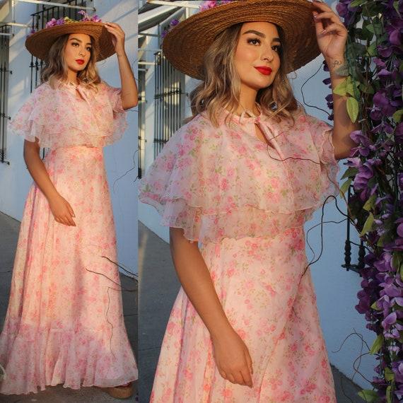 Vintage Dress (Spring Dress Vintage Floral Dress M