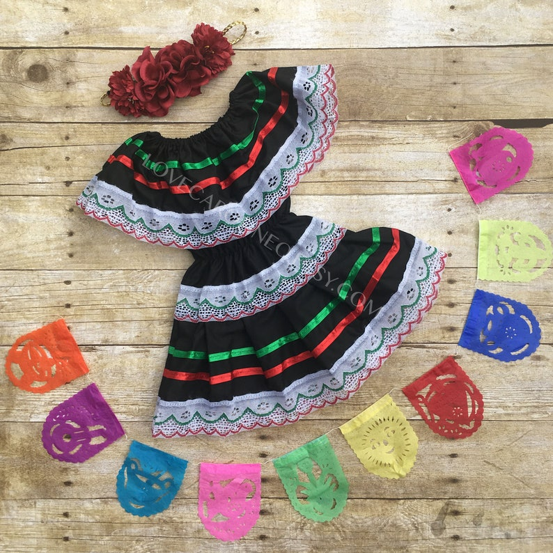 Baby Toddlers Mexican Dress Mexican Birthday Cinco De Mayo Etsy