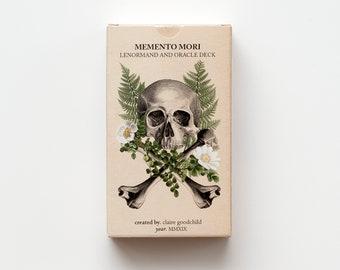 Memento Mori Oracle Deck, Lenormand Deck, anatomy tarot, oracle deck, tarot deck, oracle of oddities