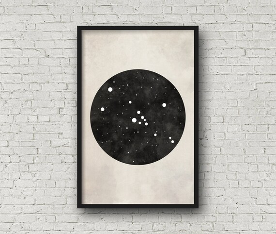 Taurus Constellation Art Art Print Poster Wall Art Taurus   Etsy