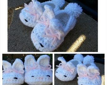 Bunny Crochet Booties