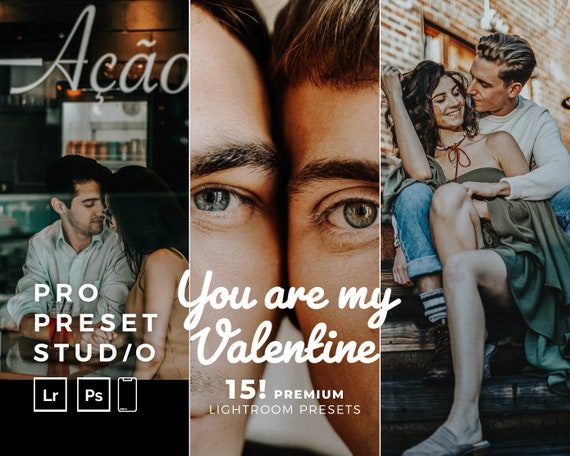 Pro Preset Studio (15!) You are my valentine presets mobile for Lightroom desktop and Lightroom mobile and Photoshop