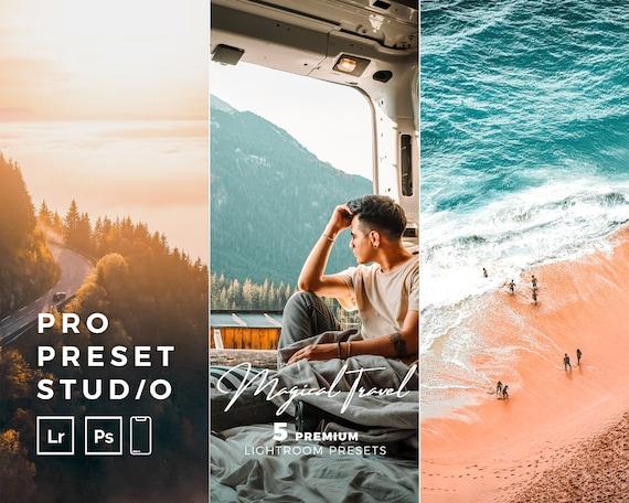 Pro Preset Studio 5 Magical Travel presets for Lightroom desktop and Lightroom mobile and Photoshop