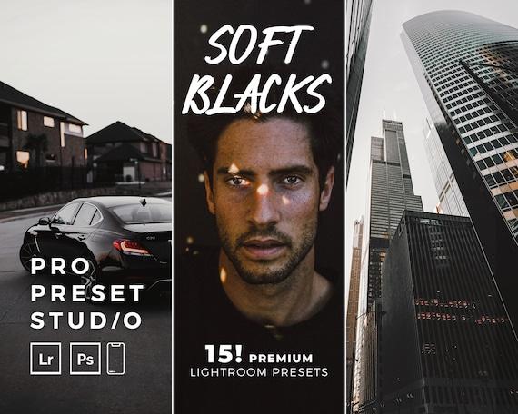 Pro Preset Studio (15!) Soft Blacks presets mobile for Lightroom desktop and Lightroom mobile and Photoshop