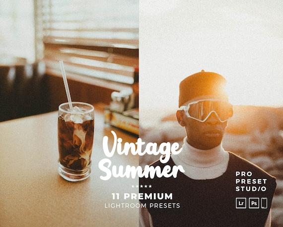 Summer Presets Pro Preset Studio Vintage Summers Presets for Lightroom desktop and Lightroom mobile and Photoshop