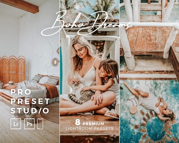 Pro Preset Studio 8 BOHO Dreams Presets for Lightroom desktop and Lightroom mobile and Photoshop