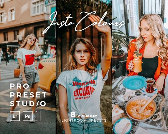 Pro Preset Studio 8 InstaColours Presets for Lightroom desktop and Lightroom mobile and Photoshop
