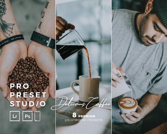 Pro Preset Studio 8 Delicious Coffee presets for Lightroom desktop and Lightroom mobile and Photoshop