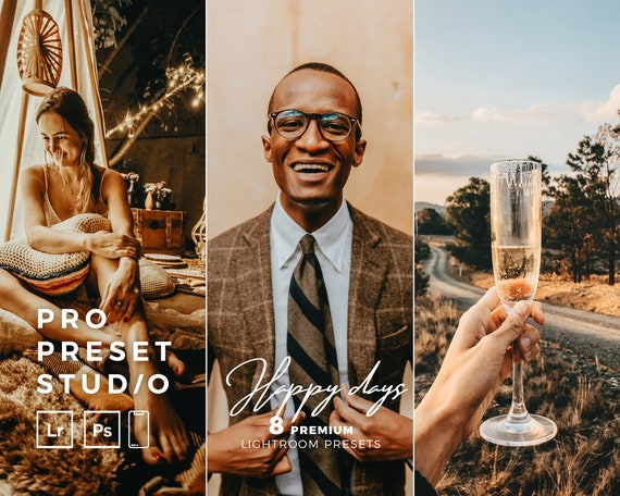 Pro Preset Studio 8 Happy Days presets for Lightroom desktop and Lightroom mobile and Photoshop