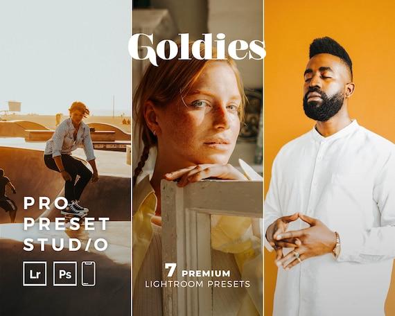Pro Preset Studio 7 Goldies Presets for Lightroom desktop and Lightroom mobile and Photoshop