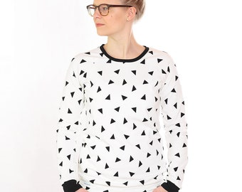 "Sweater ""Pauline"" white Triangle"