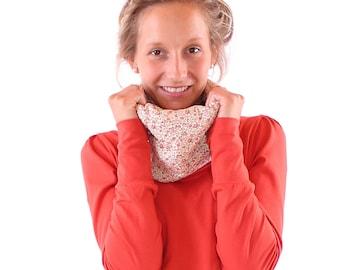 "GR m//Collar shirt ""charlene"" Orange/Apricot Floret"
