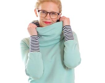 Collar shirt Lotti//mint green Strips