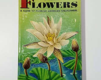 Flowers Golden Nature Guide Book, Pocket Guide Book, Vintage Field Guide, Simon & Schuster