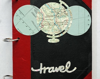 Travel Journal, Junk Journal, Art Journal, Altered Vintage Book