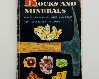 Rocks and Minerals Golden Nature Guide Book, 1957