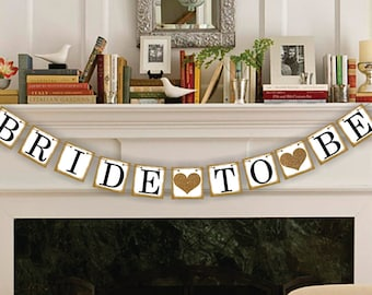 Engaged Banner, Engagement Banner, Bride-To-Be Banner, Wedding Photo Prop, Wedding Garland