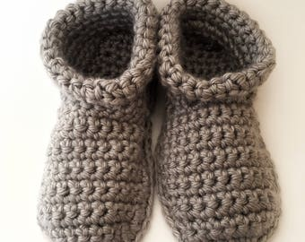 Slippers, Booties, Crochet Slippers, Slipper Booties, Boots, non-slip, Socks, Slipper Socks, Crochet Socks, Gifts for Her, Gifts for Him