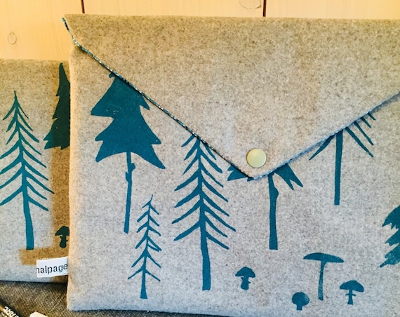 Blue forest Ipad pouch