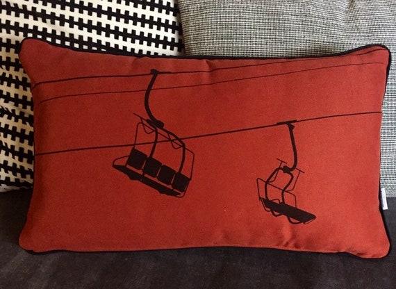 Chairlift terracota cushion