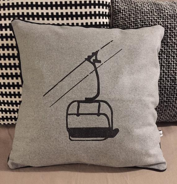 Black chair cushion