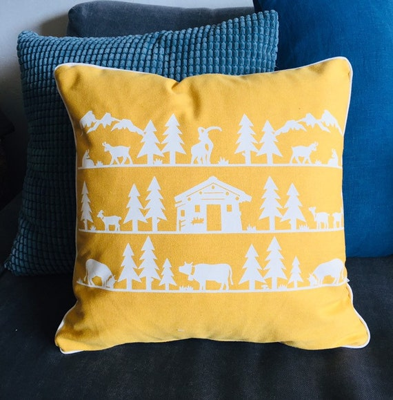 Yellow POYA cushion