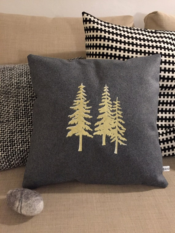 Gold tree cushion