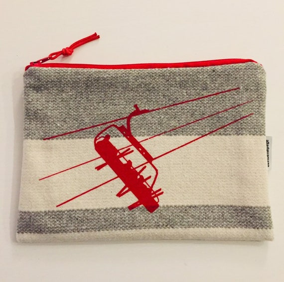 Red chairlift pouch