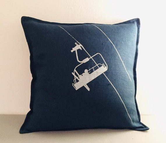 Prussian Blue Cushion