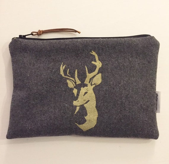 Golden deer pouch