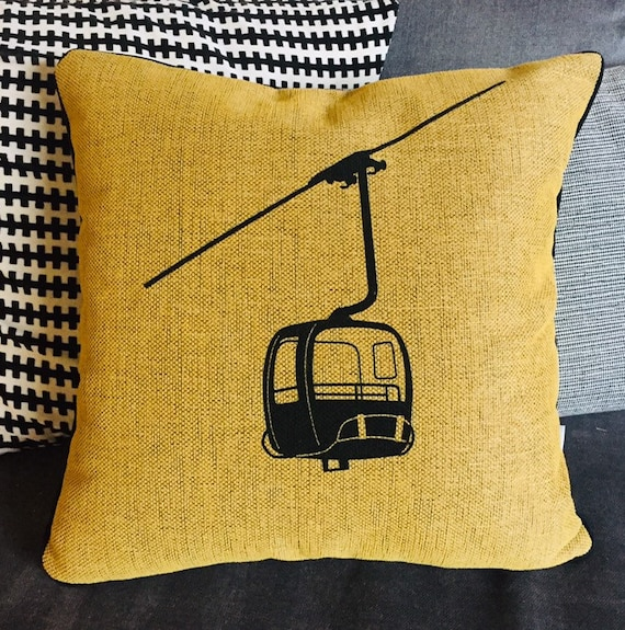 Yellow cushion MONTJOIE