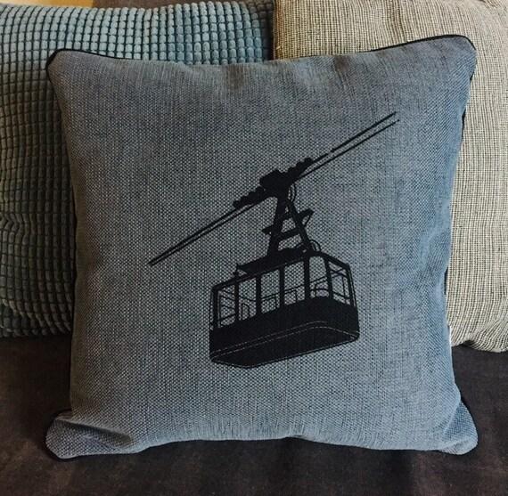 Blue cable car cushion