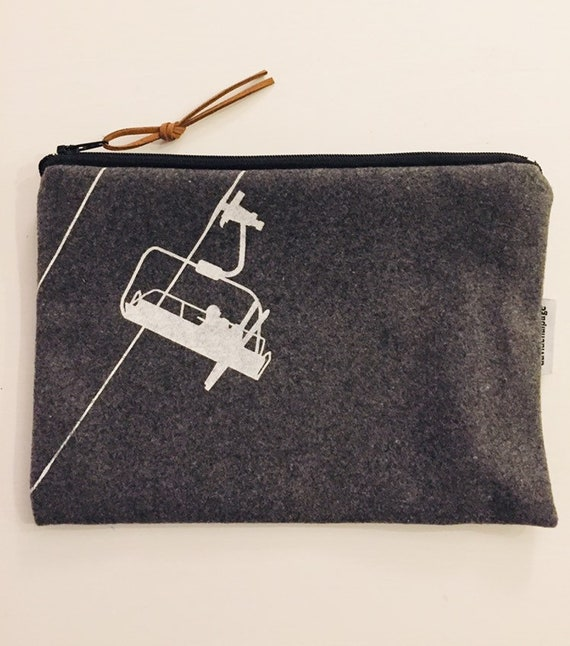 White chairlift pouch