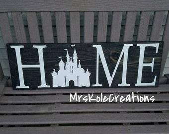 Disney Sign, Disney Home Decor, Disney Home Sign, Handmade Wooden Sign, Painted Disney Sign