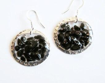 Onyx Crystal Earrings