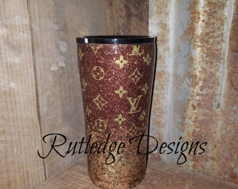 Lv Glitter Tumbler Tumblers Crafting Pieces