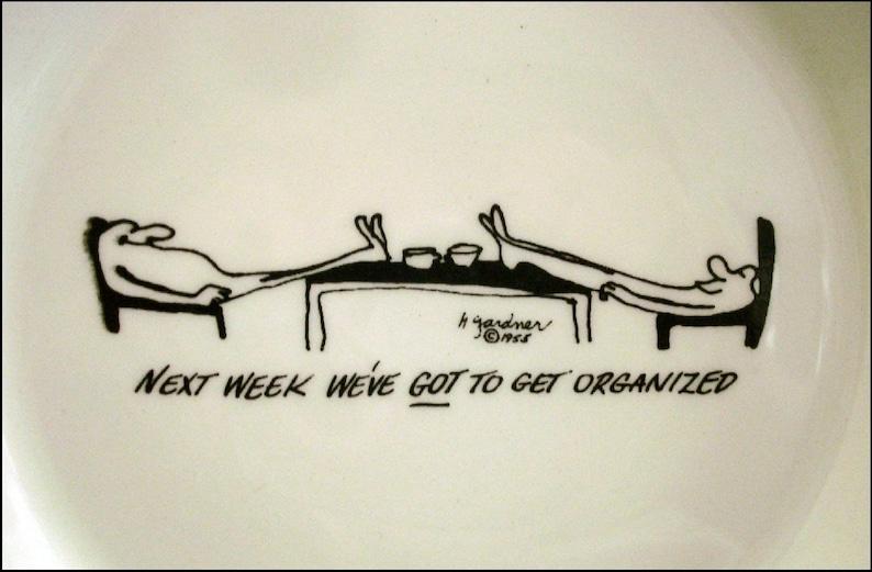 NY Tray Ashtray Cartoon Art Herb Gardner Nebbishes by Bernad Creations Yonkers