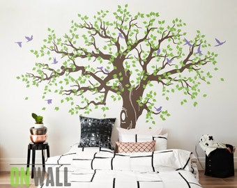 Delightful Large Family Tree Wall Decal, Nursery Tree Wall Decals, Tree Mural, Vinyl Wall  Decal, Wall Sticker   MM033