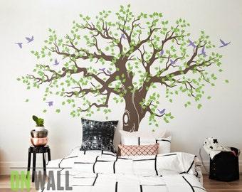 Large Family Tree Wall Decal, Nursery Tree Wall Decals, Tree Mural, Vinyl Wall  Decal, Wall Sticker   MM033